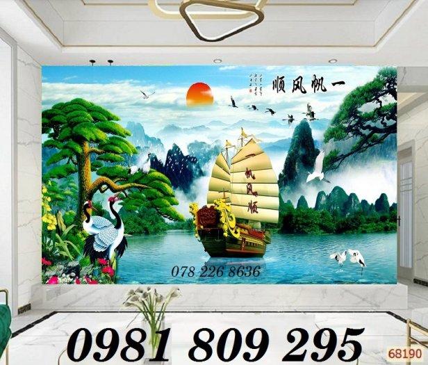 Tranh gạch trang trí - thuyền buồm 3d - gạch tranh2