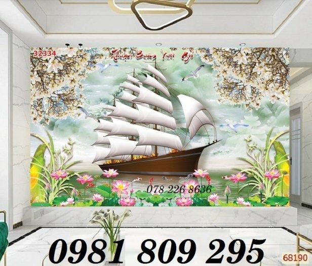 Tranh gạch trang trí - thuyền buồm 3d - gạch tranh1