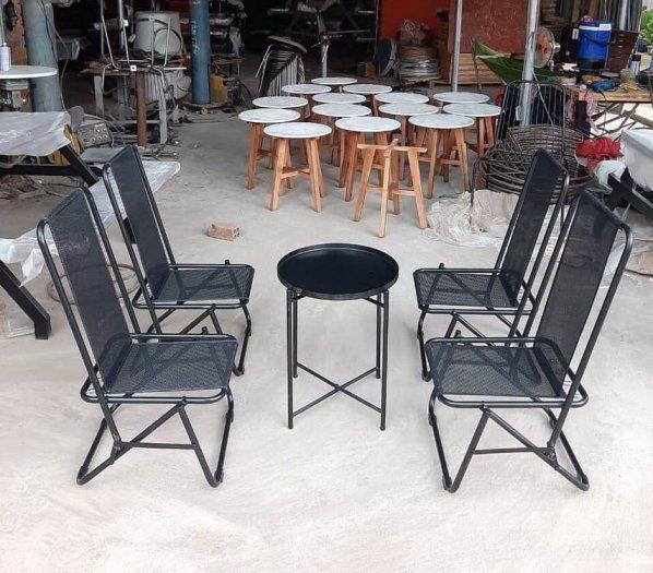 Bộ bàn ghế xếp vỉa hè cao cấp Ak0010