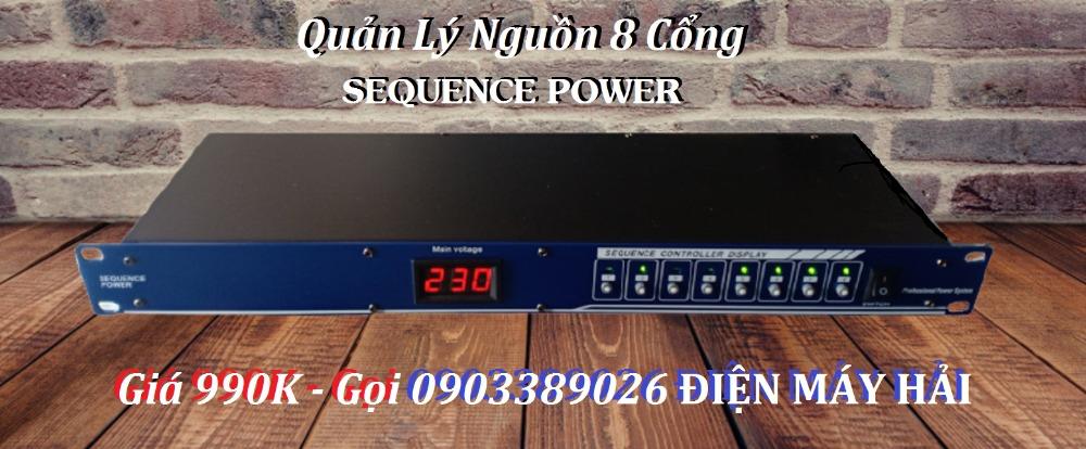 Quản lý nguồn Điện Sequence Power 8 cổng giá rẻ bán tại Điện Máy Hải3