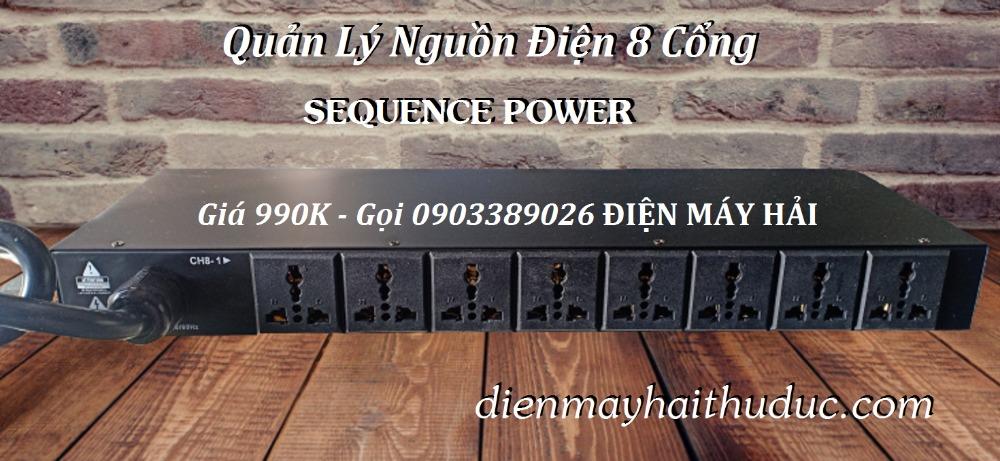 Quản lý nguồn Điện Sequence Power 8 cổng giá rẻ bán tại Điện Máy Hải2