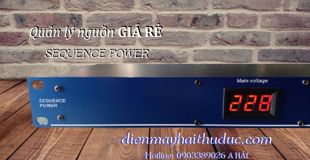 Quản lý nguồn Điện Sequence Power 8 cổng giá rẻ bán tại Điện Máy Hải1
