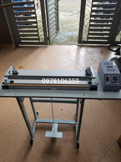 Máy hàn túi dập chân SF800, máy ép miệng bao nilon, máy ép túi nhựa dài 80cm1