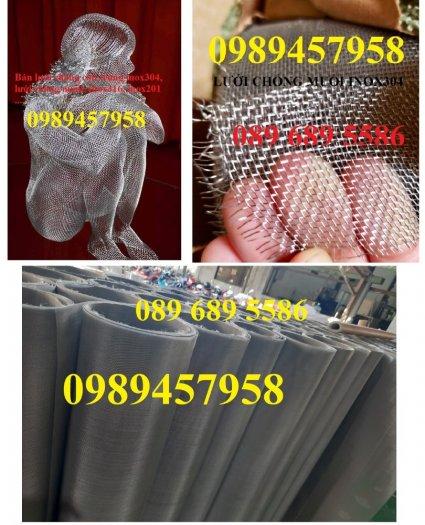 Chuyên Lưới chống muỗi inox 304, lưới inox 201, lưới inox 3167