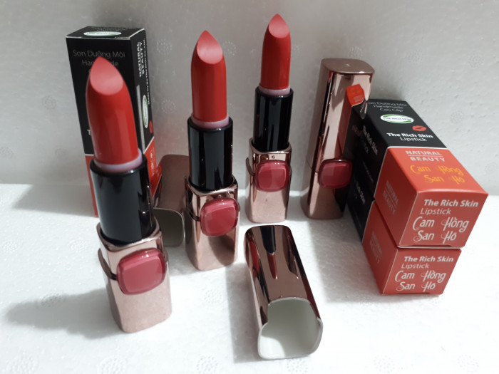 Son môi cam san hô son môi handmade sỉ 0975603004 Trương Lam Sơn