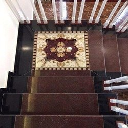 Chiếu nghỉ cầu thang - thảm gạch 3D0