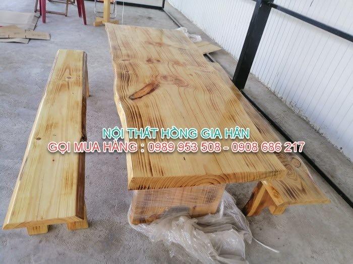 Bộ bàn ghế gỗ tự nhiên siêu đẹp dành cho quán ăn, sân vườn, quán cafe giá tại xưởng - LH: 0989 953 508 - 0908 686 2172