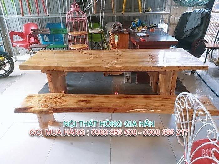 Bộ bàn ghế gỗ tự nhiên siêu đẹp dành cho quán ăn, sân vườn, quán cafe giá tại xưởng - LH: 0989 953 508 - 0908 686 2170