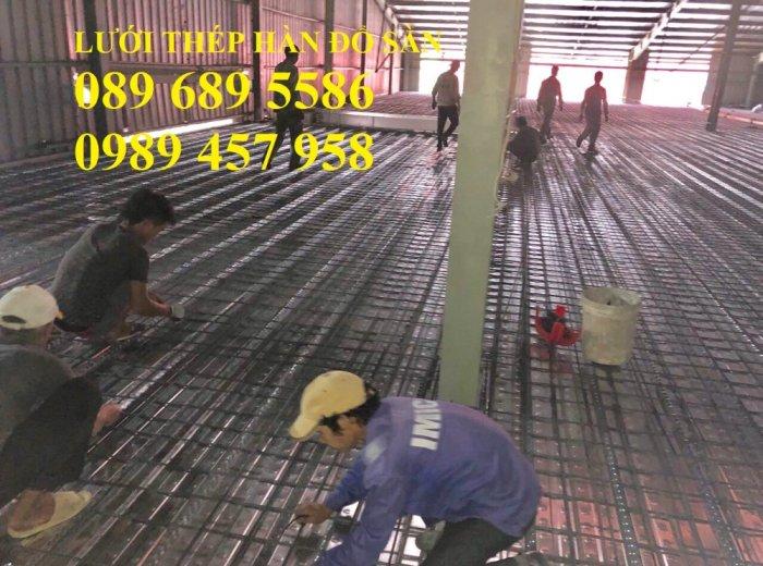 Bán Lưới thép hàn phi 4 đổ sàn chống nóng, Lưới thép hàn chập phi 4 150*150, 200*200, 250*2501