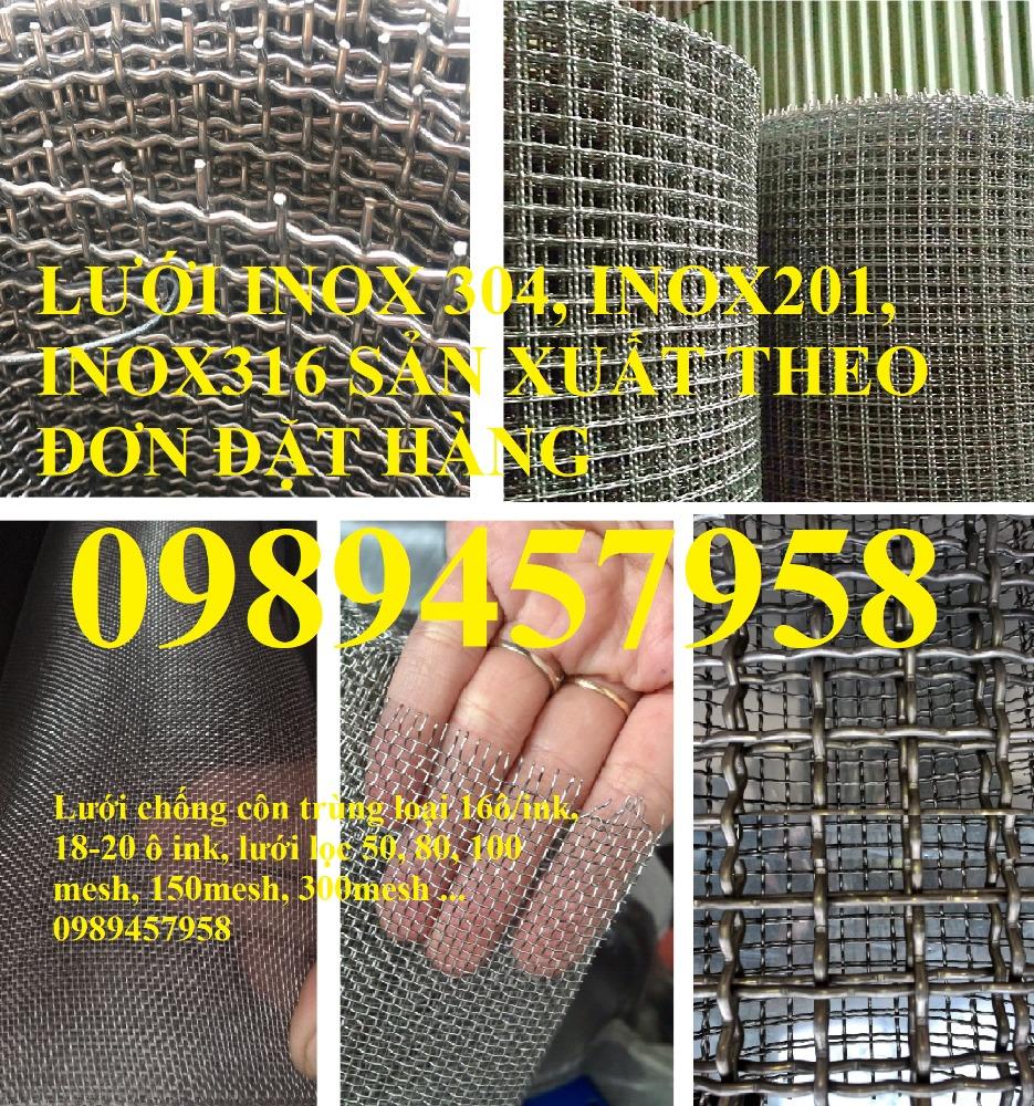 Lưới inox 304 chống côn trùng - Lưới inox 304 lưới dệt - lưới inox sấy thực phẩm0