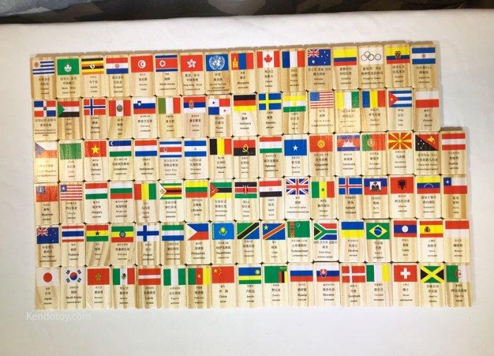 Domino 100 cờ quốc gia bằng gỗ | Domino xếp ngã sáng tạo0