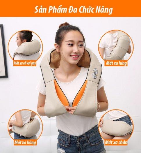 Đai massage giảm đau vai cổ gáy Ayosun Hàn Quốc chính hãng ( Bảo hành 5 năm )1