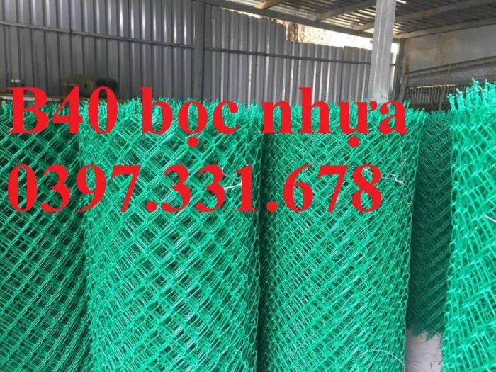 Lưới B40, B40 mạ kẽm, B40 bọc nhựa khổ 1m, 1,2m, 1,5m, 1,8m làm theo yêu cầu0