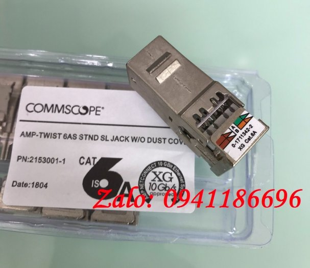 Ổ cắm mạng Commscope AMP XG Cat6A Modular Jack 1711342-2/ 2153001 - 10G7