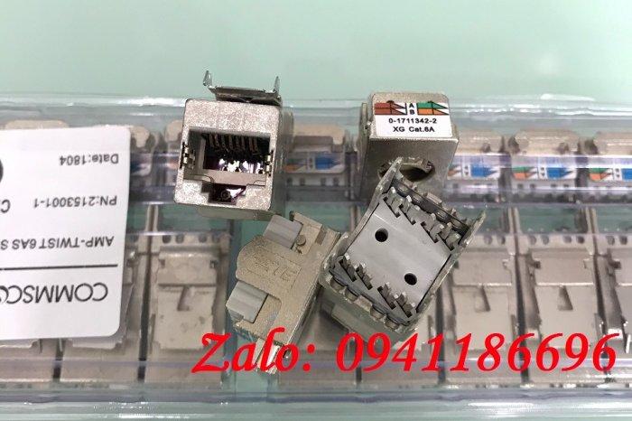 Ổ cắm mạng Commscope AMP XG Cat6A Modular Jack 1711342-2/ 2153001 - 10G6