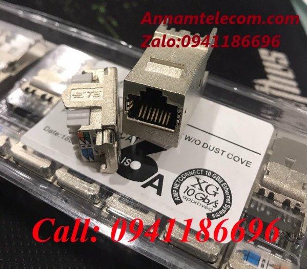 Ổ cắm mạng Commscope AMP XG Cat6A Modular Jack 1711342-2/ 2153001 - 10G5