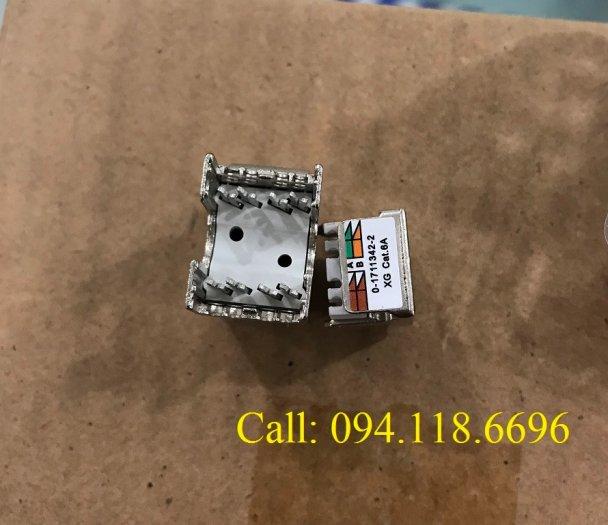 Ổ cắm mạng Commscope AMP XG Cat6A Modular Jack 1711342-2/ 2153001 - 10G3
