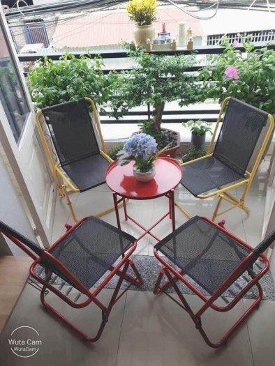 Bộ bàn ghế xếp mini sắt cao cấp Ak0020