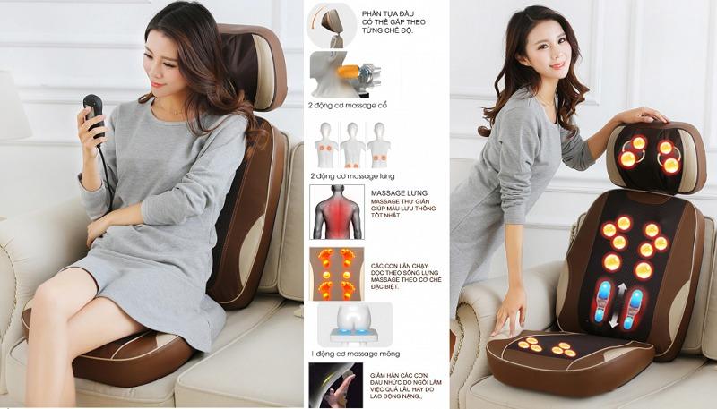 Đệm massage giảm đau thư giãn toàn thân Ayosun nhập khẩu Hàn Quốc bảo hành chính hãng 5 năm1