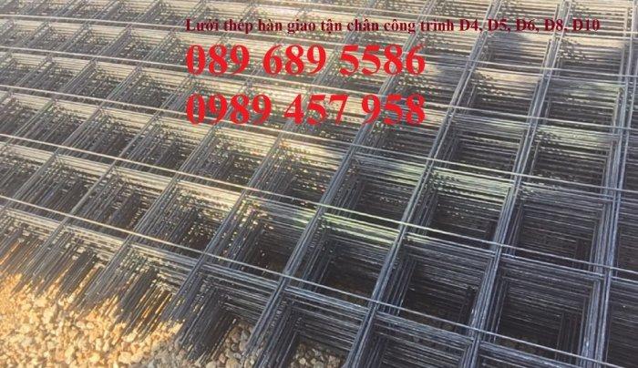 Lưới thép hàn, Lưới hàn chập, Lưới hàn cuộn D4, D6, D8, D10, D12... làm theo đơn đặt hàng1