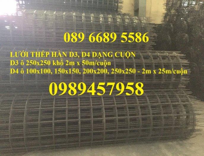 Chuyên Lưới thép đổ sàn bê tông đổ đường chống nứt phi 4, Lưới thép phi 4 ô 200x200, 250x2504