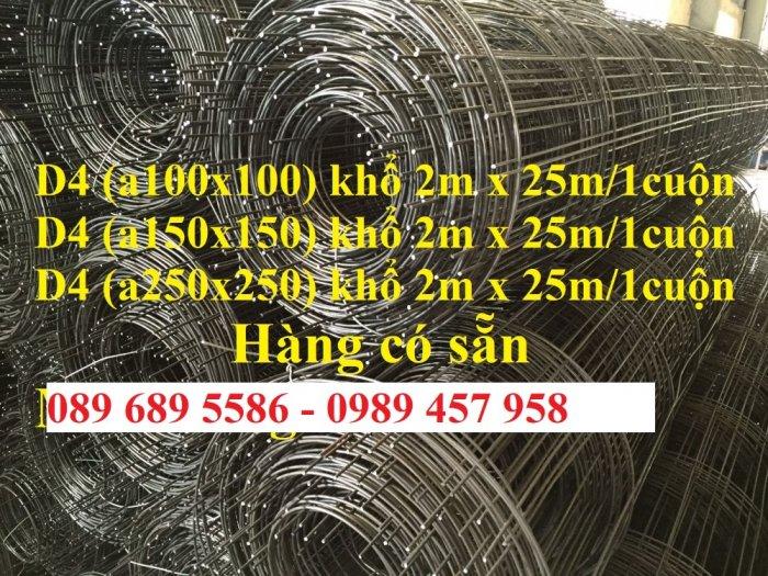 Chuyên Lưới thép đổ sàn bê tông đổ đường chống nứt phi 4, Lưới thép phi 4 ô 200x200, 250x2502