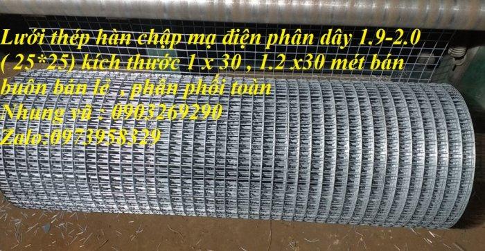 Sản xuất lưới thép mạ kẽm phi 2 , phi  2.5 , phi 2.7 , phi 3 , phi 4 ( 25*25),( 35*35),(50*50) phân phối toàn quốc5