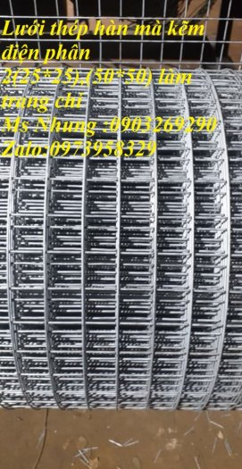 Sản xuất lưới thép mạ kẽm phi 2 , phi  2.5 , phi 2.7 , phi 3 , phi 4 ( 25*25),( 35*35),(50*50) phân phối toàn quốc0