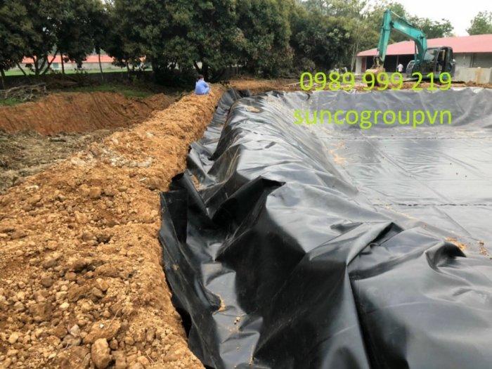 Cuộn nylon Nhựa Đen 2 Mặt Hdpe 0.5mm lót,be,phủ,biogas,bãi chôn lấp5