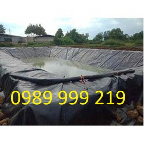 Cuộn nylon Nhựa Đen 2 Mặt Hdpe 0.5mm lót,be,phủ,biogas,bãi chôn lấp1