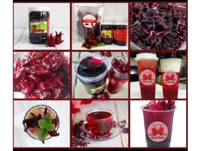 Siro Atiso đỏ kèm mứt(Hibiscus)- 850ml1