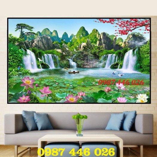 Gạch tranh ốp tường trang trí phòng khách 3d HP046368
