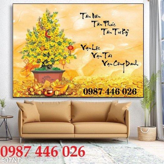 Gạch tranh ốp tường trang trí phòng khách 3d HP046363