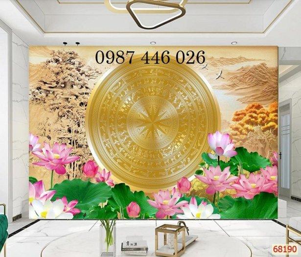 Gạch tranh ốp tường trang trí phòng khách 3d HP046360