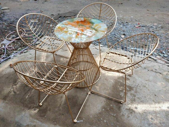 Bộ bàn ghế sắt mỹ ghệ.5