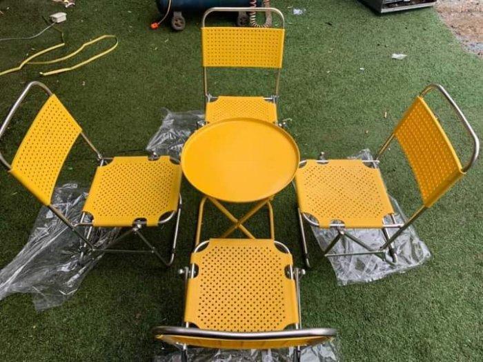 Bộ bàn ghế xếp ngồi êm nhất..1