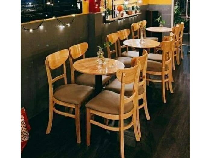 Bộ bàn ghế cafe gỗ giá rẻ0