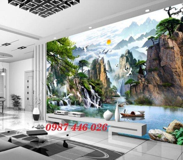 Gạch tranh 3d phòng khách ốp tường Hp62810