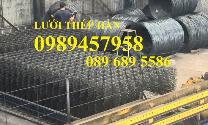 Sản xuất lưới thép hàn phi 8 ô 150x150, 200x200 ,Lưới D8 gân 200*2002
