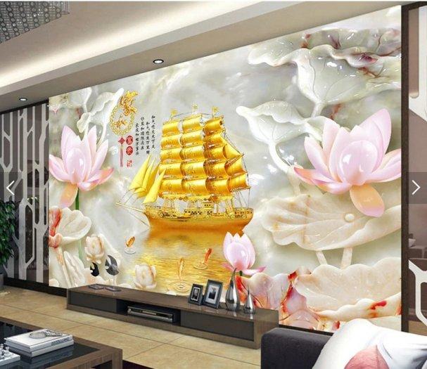 Tranh gạch men thuyền buồm- gạch 3d, tranh trang trí HP7613