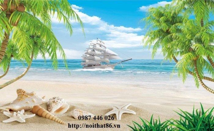 Tranh gạch men thuyền buồm- gạch 3d, tranh trang trí HP7612