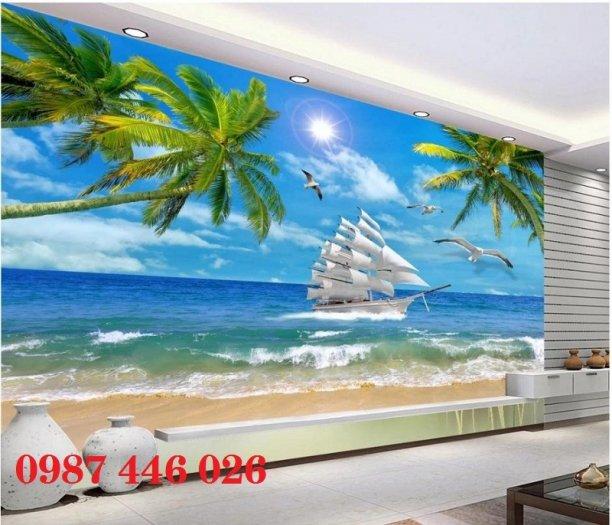 Tranh gạch men thuyền buồm- gạch 3d, tranh trang trí HP765
