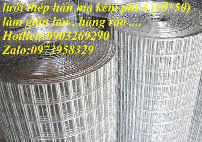 Lưới thép hàn mạ kẽm - thép đen phi 4 ( 50*50) lưới làm giàn lan , lưới hàng rào , lưới đổ sàn4