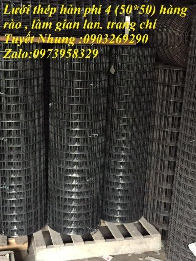 Lưới thép hàn mạ kẽm - thép đen phi 4 ( 50*50) lưới làm giàn lan , lưới hàng rào , lưới đổ sàn0