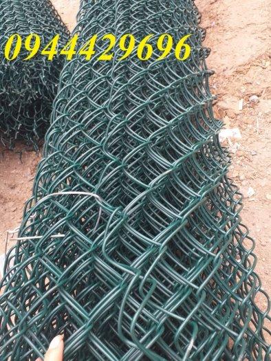 Lưới B40 bọc nhựa  khổ 1.8m mầu xanh làm hàng rào5