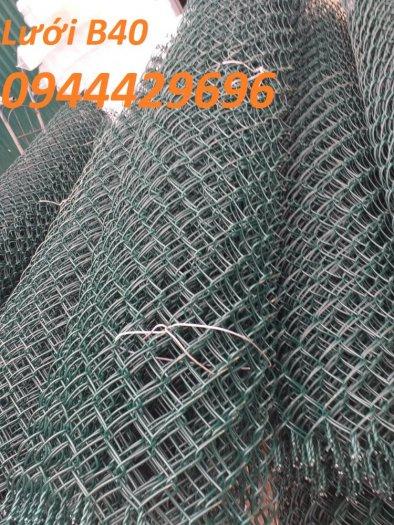 Lưới B40 bọc nhựa  khổ 1.8m mầu xanh làm hàng rào3