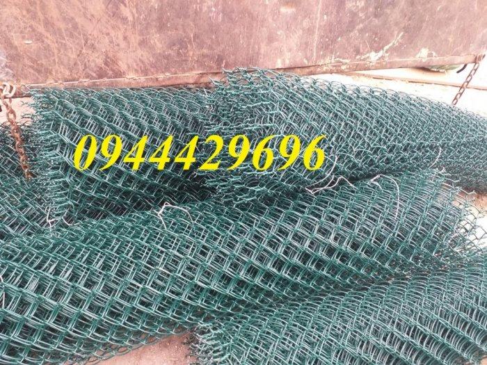 Lưới B40 bọc nhựa  khổ 1.8m mầu xanh làm hàng rào2
