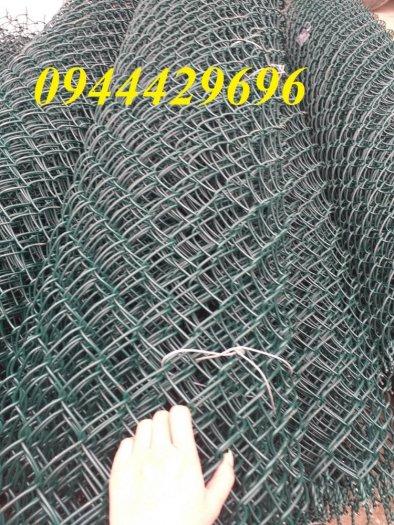 Lưới B40 bọc nhựa  khổ 1.8m mầu xanh làm hàng rào0