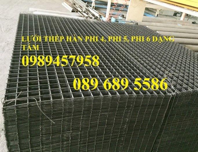 Lưới hàn phi 4 dạng tấm, dạng cuộn 50x50, 100x100, Lưới thép phi 4 a 200x200 và 250x2501