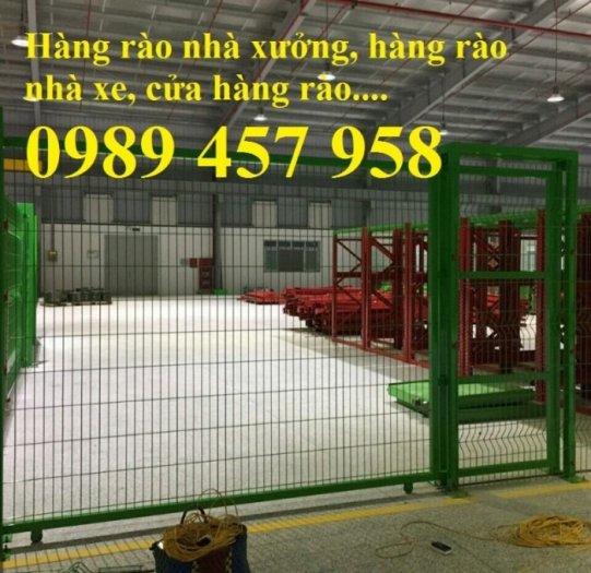 Hàng rào thép, vách rào ngăn kho, hàng rào ngăn xưởng1